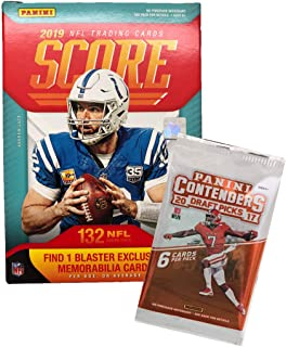 2019 Score NFL Football Blaster Box 132 Cards & 1 MEMORABILIA Card per Box plus a Bonus Pack