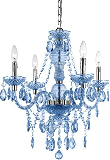 AF Lighting 8352-4H Naples Four Light Mini Chandelier- Light Blue