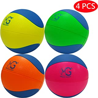 Macro Giant 6 Inch (Diameter) Safe Soft Foam Basketball, Set of 4, Assorted Colors, Training, Practice, Playground Ball, Kid Sports Toys, Kid Toy Gift, Birthday Gift