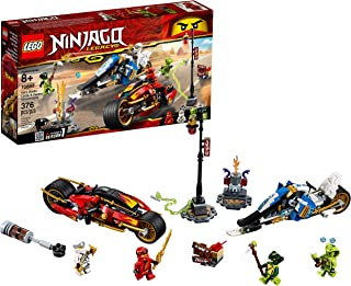 LEGO NINJAGO Legacy Kai's Blade Cycle & Zane's Snowmobile 70667 Building Kit, 2019 (376 Pieces)