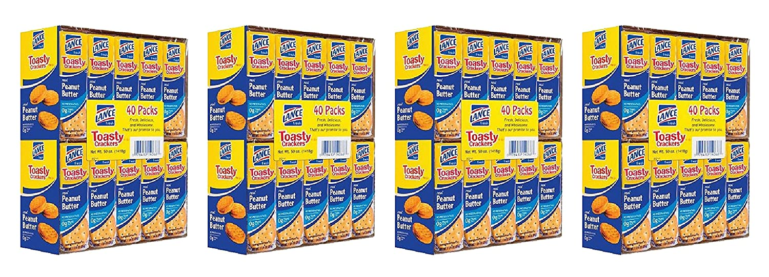 Lance Toasty Peanut Attention brand Butter Sandwich Crackers Pack of 4 ct. wholesale 40