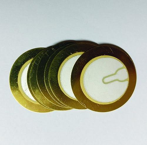 Easy Electronics Piezoelectric Sensor/Buzzer/Transducer/Disc 27mm Piezo - Set Of 10