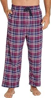 Sleepwear Mens Flannel Pajama Pants, Long 100% Cotton Pj Bottoms