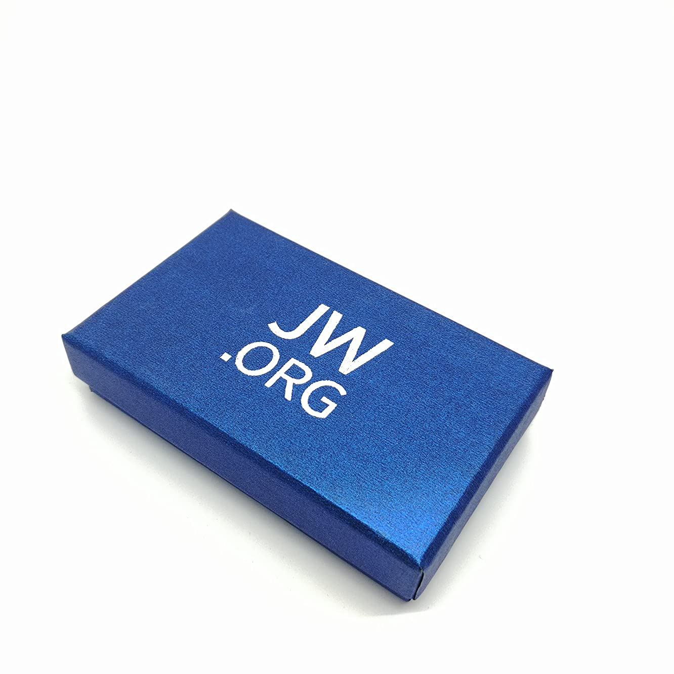 Round Jw.org Silver Color Necktie Clip and Lapel Pin Gift Set-Blue + Silver