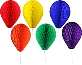 product image for 6-Piece Classic Rainbow Themed 11 Inch Honeycomb Tissue Paper Balloon Party Decoration Kit (Red, Orange, Yellow, Green, Blue, Purple)