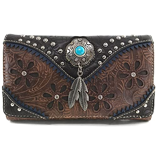 fcf34a405e92 Tooled Leather Purse and Wallet: Amazon.com