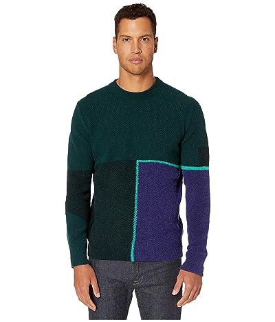Paul Smith Bottom Split Sweater (Forest Green) Men