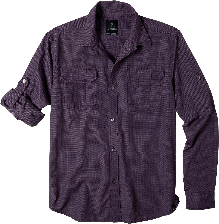prAna Men's Sabbatical 5 popular High material Long Sleeve Shirt Woven