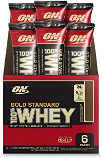OPTIMUM NUTRITION GOLD STANDARD 100% Whey Protein Powder Individual Stick Packs, Extreme Milk Chocolate, 6 Count