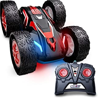 Force1 Fast Remote Control Car for Kids Cyclone RC Cars with Bright LED Lights and Off Road RC Car Tires, Stunt RC Cars fo...