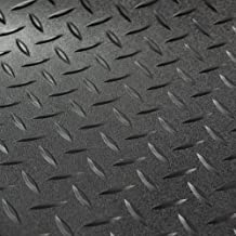 RV Trailer Diamond Plate Pattern Flooring | Black | 8' 6