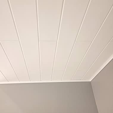 Styro Pro Decorative Polystyrene Ceiling Planks to Cover Popcorn. #RM-98. Pack of 24 (Covers 43 sq ft). Easy DIY Glue up Appl