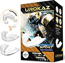 UROKAZ Football Mouth Guard Sports 5 Pieces Mouthguard and Mouthpiece for Boxing, MMA, Basketball, Lacrosse, Muay Thai, Hockey Mouthguards One Size Fit All for Contact and Non Contact Sport