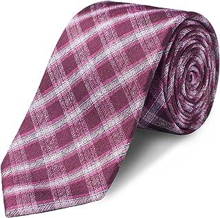 "ORIGIN TIES Men's Fashion 100% Silk Handmade 2.5"" Tie Grey Checkered Skinny Tie & Bow Tie"