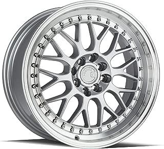 AodHan AH02 Wheel - Silver Machined Lip: 17x8 Wheel Size; 4x100/114.3 Lug Pattern; 73.1mm Hug Bore; 35mm Off Set.