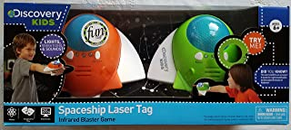 Spaceship Laser Tag 2 Player 2 Spacecraft Set Orange and Green - Parents' Choice Award-Imaginative Play Electronics Physics