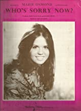 Sheet Music 1975 Who's Sorry Now Marie Osmond 7