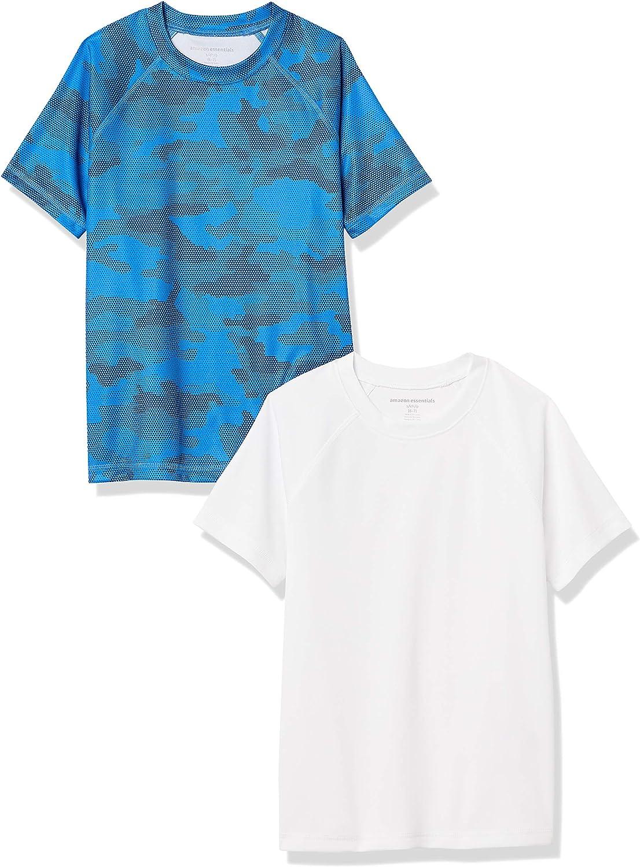 Amazon Essentials Boys' UPF 50+ Short Sleeve Swim Shirt