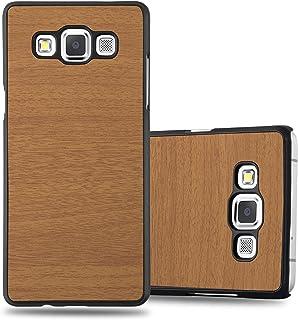 015ca942414 Cadorabo Funda para Samsung Galaxy A3 2015 en Woody MARRÓN - Cubierta  Protecciónde Plástico Duro Super
