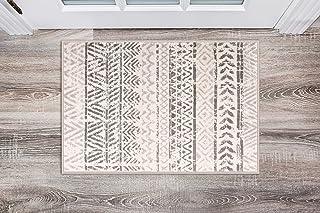 Rugshop Geometric Bohemian Design Area Rug 2' x 3' Gray