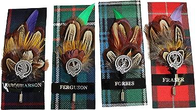 Ronnie Hek Feather Clan Crest Kilt Stick Pin - Farquharson Ferguson Forbes Fraser