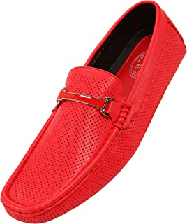 Cola - Driving Moccasins for Men – Mens Slip On Loafers, Moccasins, Slip-on Dress Shoes - Driving Loafers with Matching Color Bit