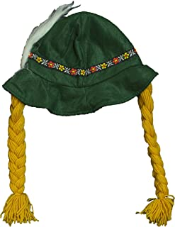 hat with braids