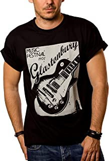 Camisetas de Grupos de Rock - Glastonbury Guitarra