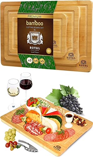 """2021 Cutting Board Set of wholesale 3 and Charcuterie Board sale 18""""x12"""" online"""