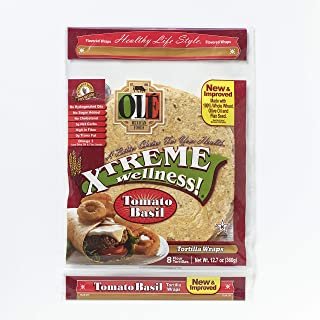 Ole Xtreme Wellness Tomato & Basil Wraps, 8ct Each Pack - 4 Pack Case