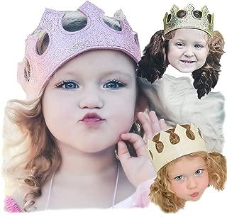 Fun Play Time Glitter Stretch Crown Set: White Sparkle, Gold, Pink