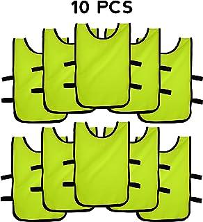 Pack de Petos de Entrenamiento 10 Unidades para niños, jóvenes y Adultos (Petos Deportivos, Petos de Futbol