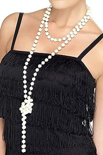 SMIFFYS Smiffy's Collana di Perle, 180cm / 71inLunghezza Panasonic Lumix Dc-Zs200 Tz200 Ev Donna, Bianco, Taglia Unica, 2...