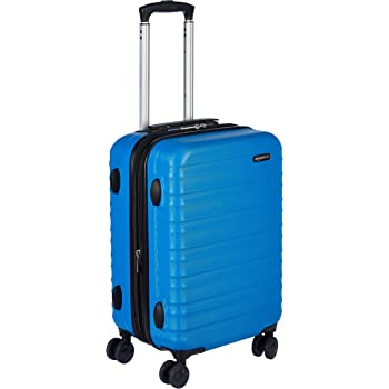 AmazonBasics Hardside Spinner, Carry-On, Expandable Suitcase Luggage with Wheels, 21 Inch, Blue