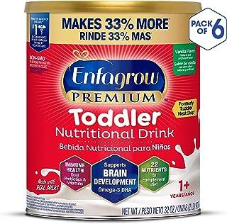 Enfagrow PREMIUM Next Step Toddler Milk Drink Powder, Natural Milk Flavor, 32 Ounce (Pack of 6), Omega 3
