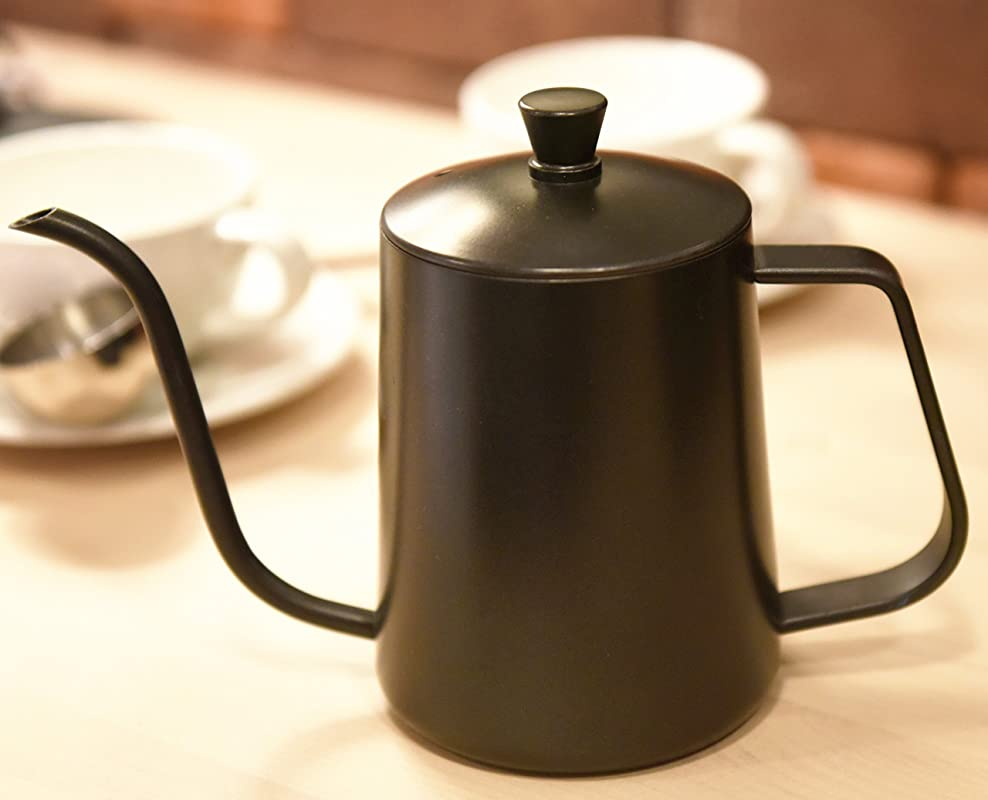 Kingnice 600 Milliliter 2 5 Cup Stainless Steel Pouring Over Gooseneck Kettle For Coffee Or Tea