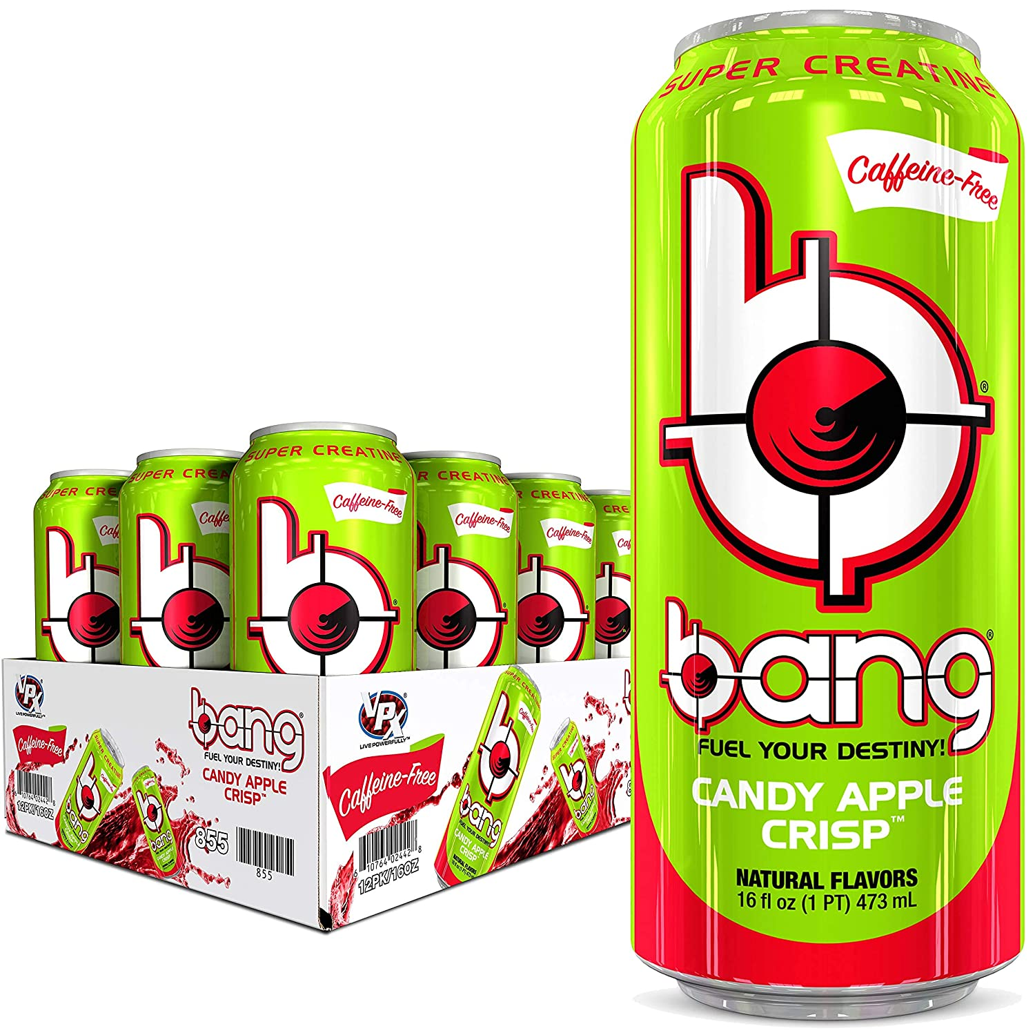 BANG Caffeine Free Financial sales sale Energy free shipping Drink 0 Sup Sugar Calories with