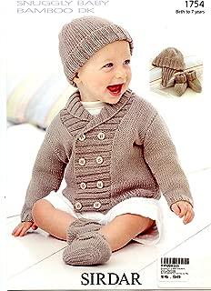 Jacket, Helmet, Hat, Booties in Snuggly Baby Bamboo DK - Sirdar Knitting Pattern 1754