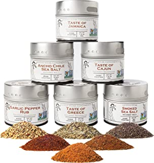 Ultimate Gourmet BBQ Seasoning Collection | Non GMO Verified | 6 Magnetic Tins | Artisanal Salts & Spice Blends | Crafted ...