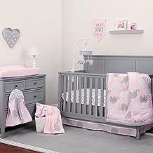 NoJo Elephant 8 Piece Comforter Set, Pink/Grey