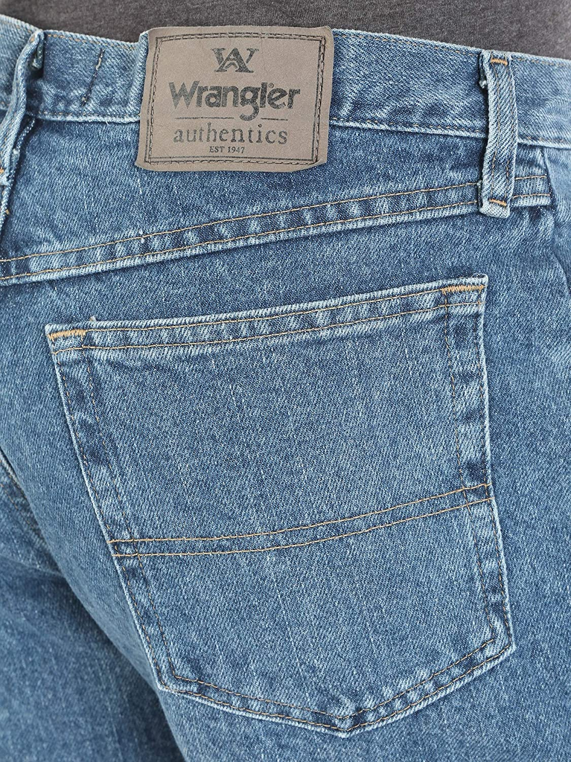 Wrangler Authentics Mens Big & Tall Classic Relaxed Fit Jean Homme Bleu (Vintage Stonewash)