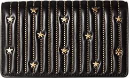 Star Stud Flat Wallet Crossbody