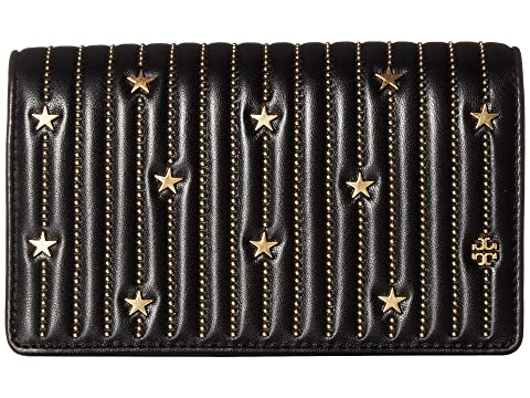 16aeac847211 Tory Burch Star Stud Flat Wallet Crossbody at Zappos.com