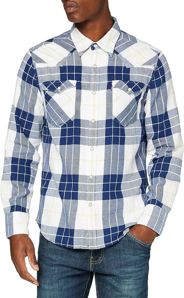 Levi`s barstow western, camicia per uomo, 100% cotone, maniche lunghe 85744A