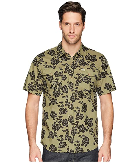 CAPTAIN FIN Jungle Rose Short Sleeve Woven, Olive