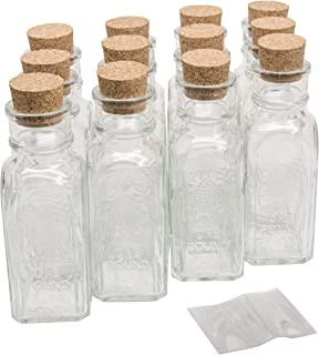 North Mountain Supply 16 Ounce Glass Muth Honey Jars - with Corks & Shrink Bands - Case of 12