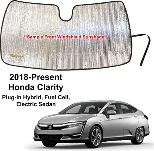 wholesale YelloPro wholesale Custom Fit Automotive Reflective Front Windshield Sunshade for 2018 2019 high quality 2020 2021 Honda Clarity, Plug-in Hybrid, Fuel Cell, Electric Sedan, UV Reflector Sun Protection Accessories outlet online sale