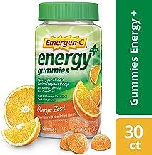 Emergen-C Energy+, with B Vitamins, Vitaminc C and Natural Caffeine from Green Tea (30 Count, Orange Zest Flavor, 1 Month Supply) Dietary Supplement
