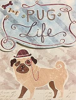 Molly & Rex Glossy Highlights Mini Pocket Notepad ~ Pug Life 66642