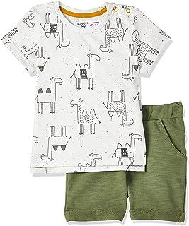 Minoti Boy's Camel 4 Top And Pant set